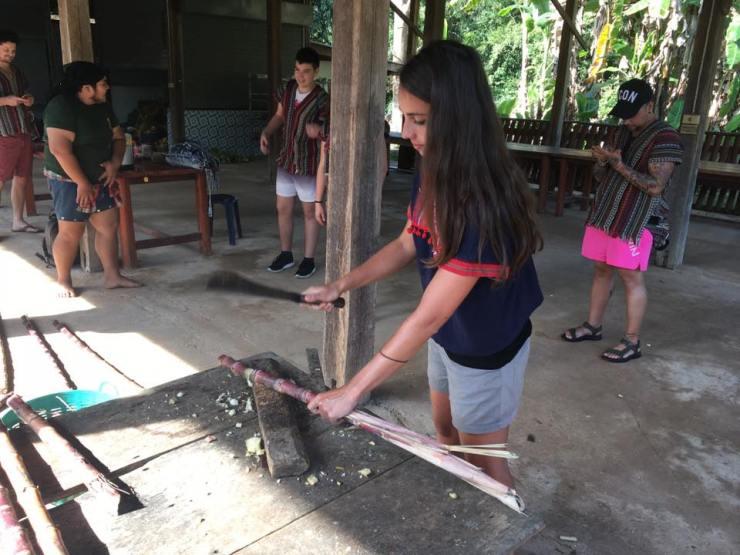 préparation nourriture elephant thailande